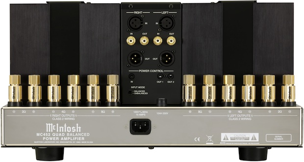 McIntosh MC452 Stereo Amplifier - Back