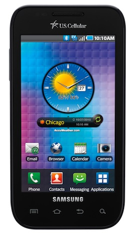 Samsung Showcase / Mesmerize SCH-i500 Smartphone - Front
