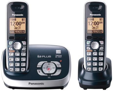 Panasonic KX-TG6572 DECT 6.0 Plus Cordless Phone - Blue