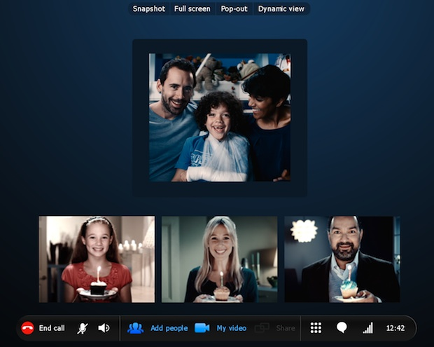 Skype 5.0 for Windows Group Video Calling