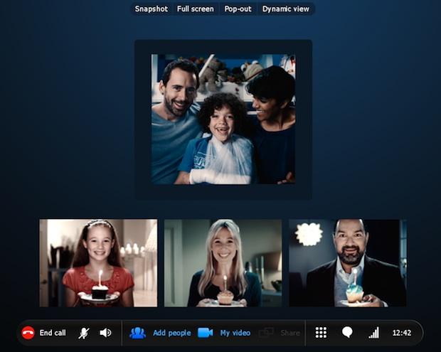 Skype 5.0 for Windows Group Video Calling
