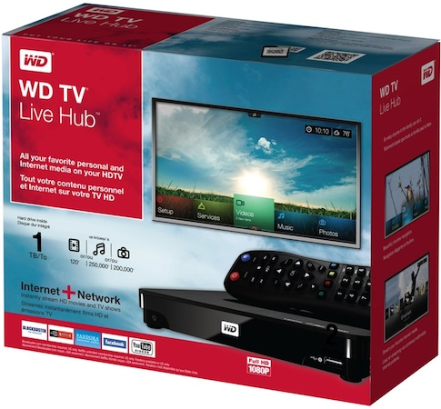 WD TV Live Hub Media Center Packaging