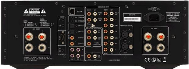 Harman Kardon HK 990 Integrated Stereo Amplifier - Back