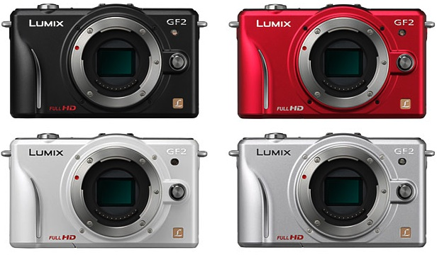 Panasonic DMC-GF2 Lumix DSLM Digital Camera - Colors