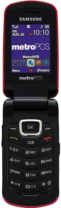Samsung SCH-r250 Contour Cell Phone - Open