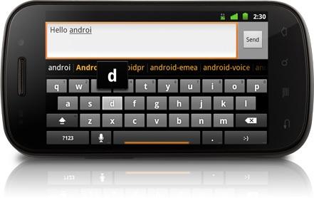 Samsung Nexus S Smartphone Keyboard