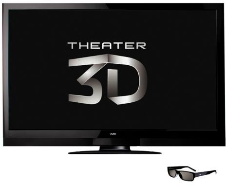 Vizio XVT3D650SV Razor LED 3D 65-inch LCD HDTV with glasses