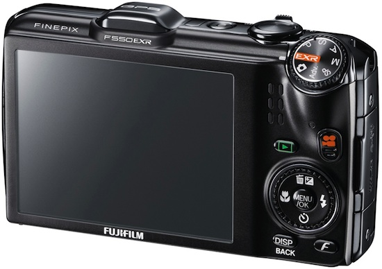 FujiFilm FinePix F550EXR Digital Camera - Back
