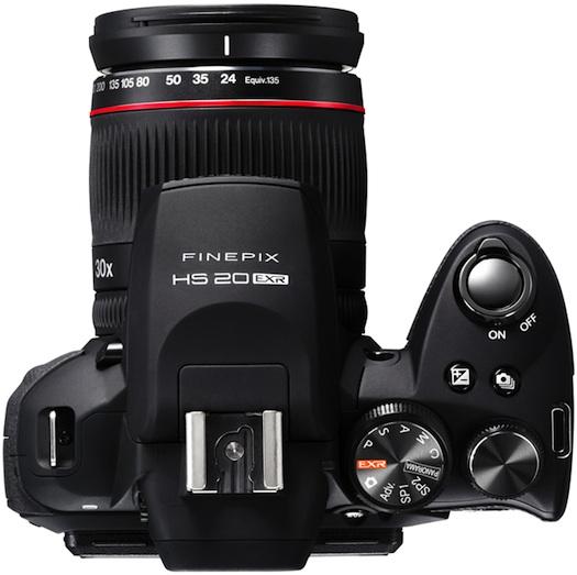 FujiFilm FinePix HS20EXR Digital Camera - Top