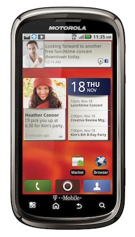 Motorola CLIQ 2 Smartphone - Front