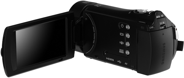 Samsung HMX-H300 HD Camcorder - Open