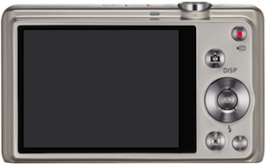 Casio EX-ZS10 Exilim Digital Camera - Silver - Back