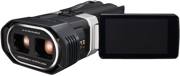 JVC GZ-TD1 Full HD 3D Camcorder - Open