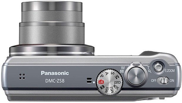 Panasonic DMC-ZS8 Lumix Digital Camera - Top