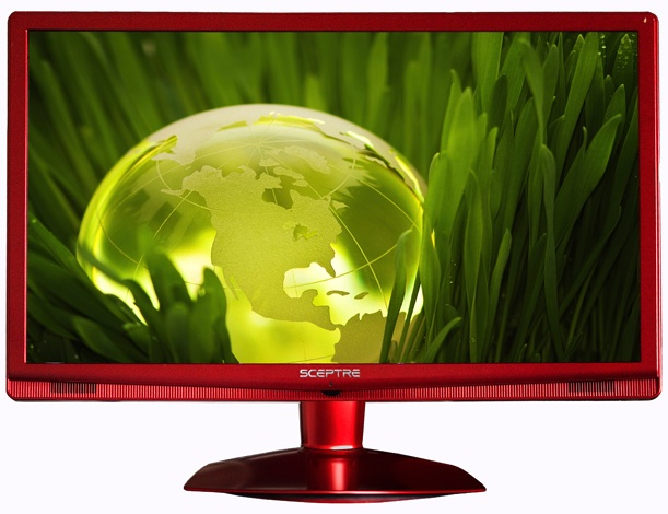 Sceptre Galaxy Series 24-inch LCD Red Monitor