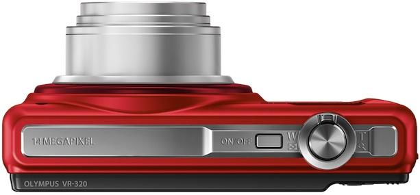 Photo of Red Olympus VR-320 Digital Camera - Top