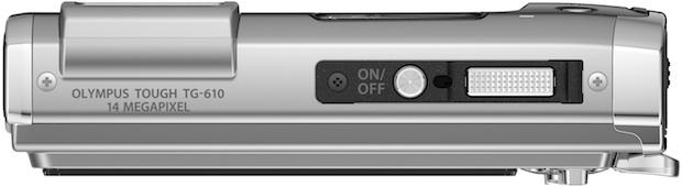 Photo of Olympus Tough TG-610 Waterproof Digital Camera - Top
