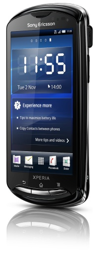 Sony Ericsson Xperia pro Smartphone - Front
