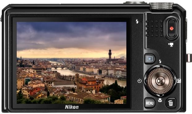 Nikon Coolpix S9100 Digital Camera - Back