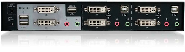 IOGEAR 2-Port Dual-View Dual-Link DVI KVMP Switch with Audio