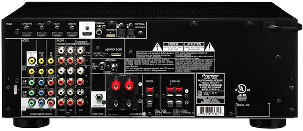 Pioneer VSX-521 A/V Receiver - Back
