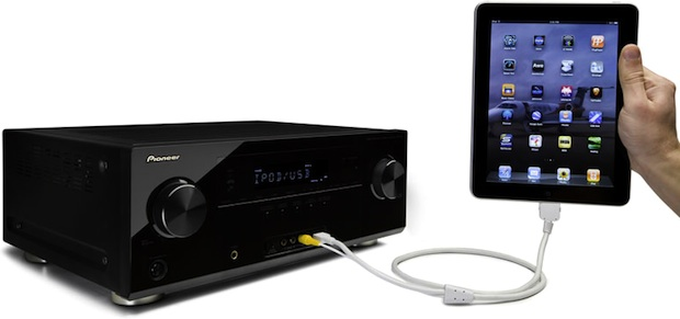 Pioneer VSX-821 A/V Receiver with iPad