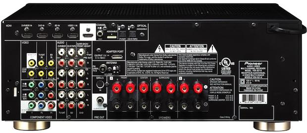 Pioneer VSX-821 A/V Receiver - Back