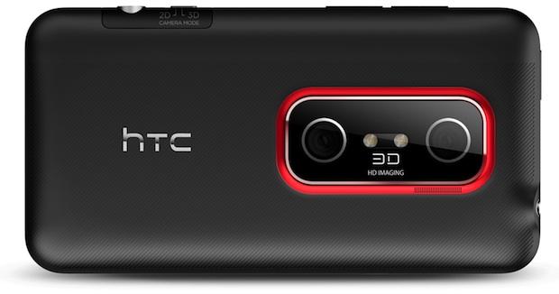 HTC EVO 3D 4G Smartphone - Back