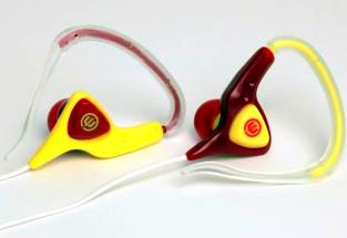 Wicked Helix Earphones - Magenta/Yellow
