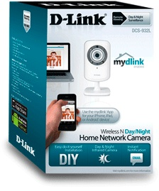 D-link DCS-932L Wireless N Network Camera Packaging
