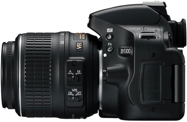 Nikon D5100 Digital SLR Camera - Left