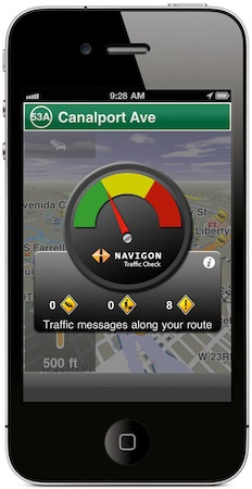 NAVIGON MobileNavigator 1.8 for iPhone - Traffic