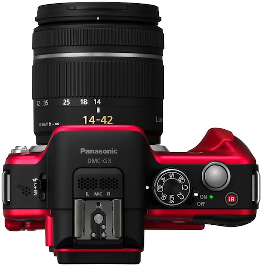 Panasonic DMC-G3 Lumix Micro Four Thirds Digital Camera - Top