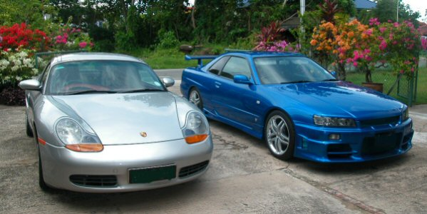 Pic of Skyline and Boxster