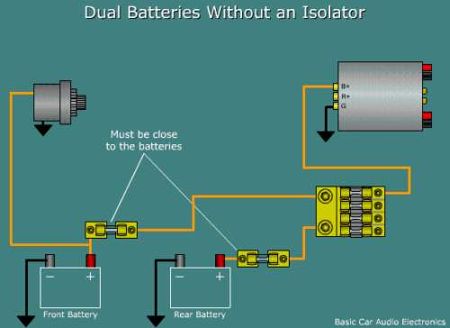 installing a second battery ecoustics com rh ecoustics com Parallel Battery Wiring Diagram Battery Bank Wiring Diagram