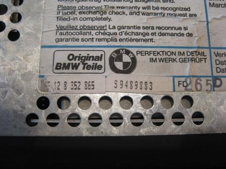 BMW E36 Business CD Radio Code needed - ecoustics.com