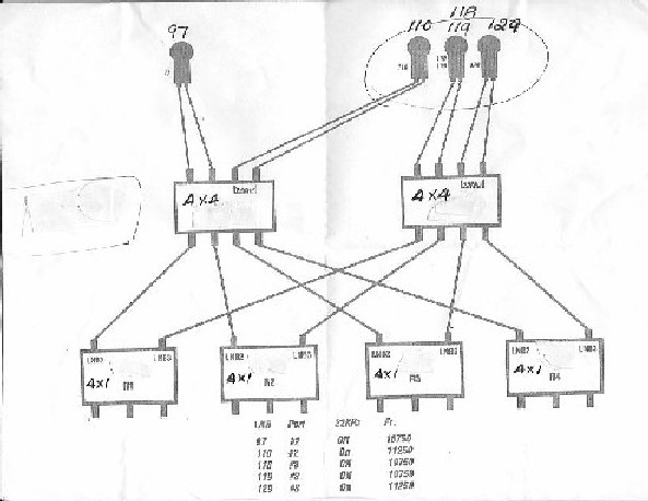 Today My Friend Draw This For Me But The Problem Is Only 5 Satellite Were Carried He Told If Want 1 More Sat Just Get 4x4: Dish Vip 222k Wiring Diagram At Ultimateadsites.com