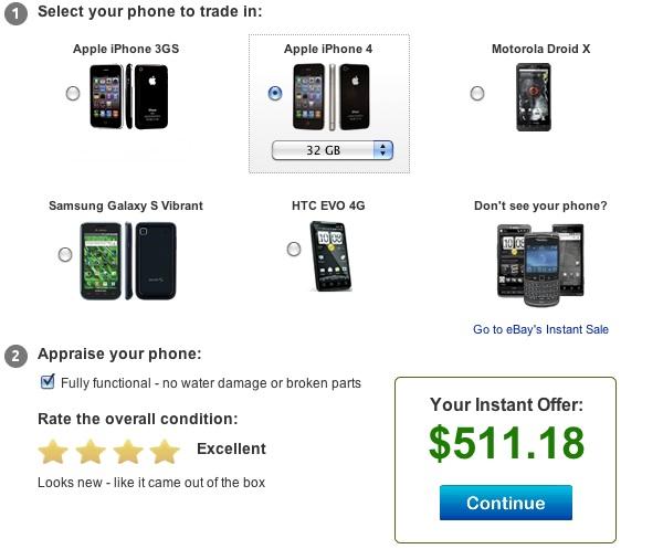eBay Instant iPhone 4