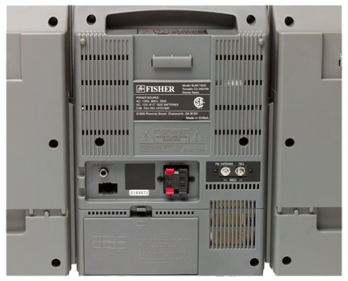 Fisher Slim 1500 back panel