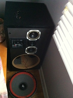 Replacing 3-way speaker woofers with subwoofer driver