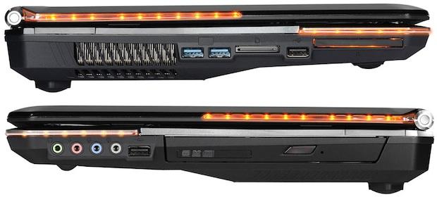 MSI GT683R Gaming Laptop - Sides