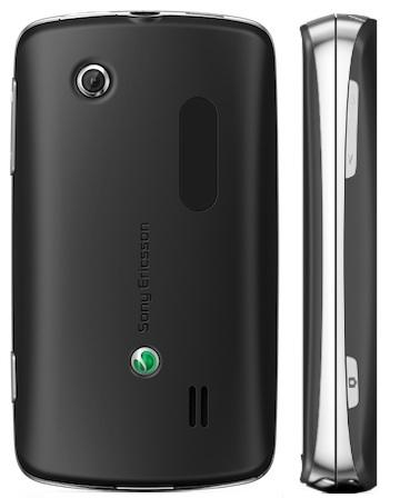 Sony Ericsson txt pro Smartphone - back, side