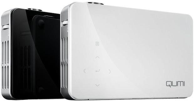 Vivitek Qumi LED Pocket DLP Projector - Black and White