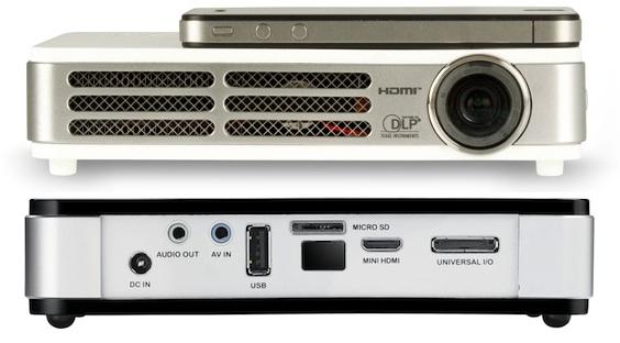Vivitek Qumi LED Pocket DLP Projector - Front Back