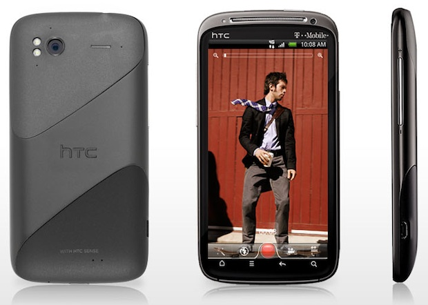 HTC Sensation 4G Smartphone - Front, Back, Side