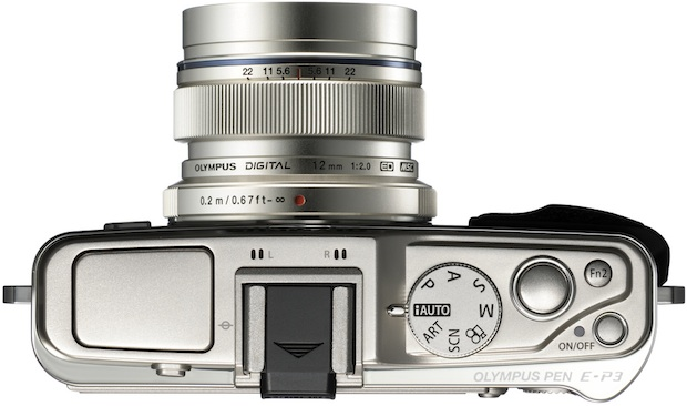 Olympus PEN E-P3 Micro Four Thirds Digital Camera - Top