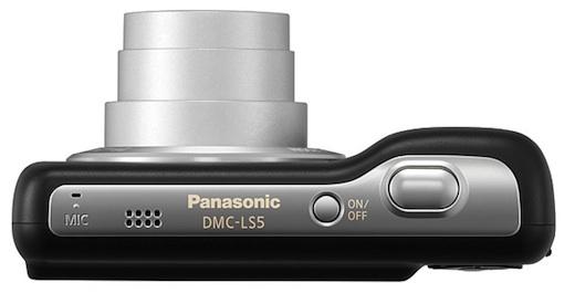 Panasonic DMC-LS5 Lumix Digital Camera - top