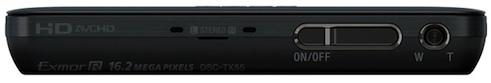Sony DSC-TX55 Cyber-shot Digital Camera - top