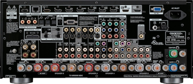 Onkyo TX-NR5009 A/V Receiver - Back