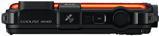 Nikon COOLPIX AW100 Rugged Digital Camera - Top